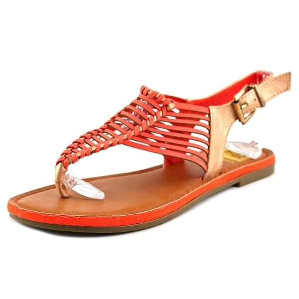 Cape Robbin Dora Women Open-Toe Synthetic Orange Slingback Sandal