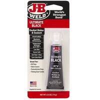 J-B Weld 32509 Ultimate Black RTV Silicone Gasket Maker and Sealant, 0.5 Oz