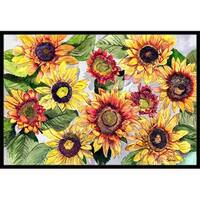 Carolines Treasures  24 x 36 In. Sunflowers Indoor or Outdoor Mat