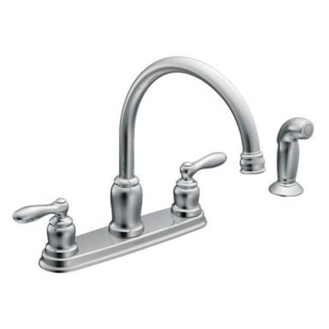 Moen CA87888 Caldwell Two Handle Kitchen Faucet, Chrome