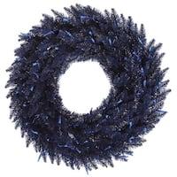 """30"""" Navy Blue Fir Wreath 260T"""