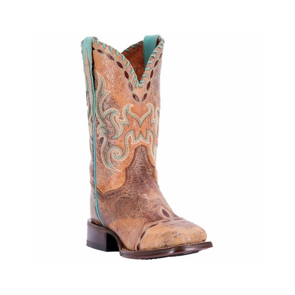 Dan Post Western Boots Women McKenna Stitch Detail Stockman Tan