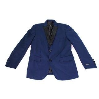 INC NEW Navy Blue Mens Size Medium M Regular-Fit One Button Blazer
