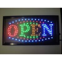 2xhome Open Multi-Color LED Restaurant, Business, Cafe, And Store Sign with Animation Effects & Motion Flashing Capabilities
