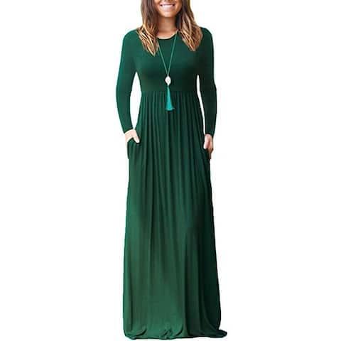 Long Sleeve Pocket Dress Dress