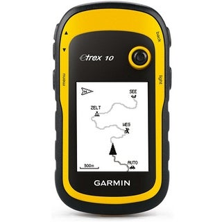 Garmin eTrex 10 Waterproof Handheld GPS w/ Bulit-in Worldwide Basemap & Custom POIs