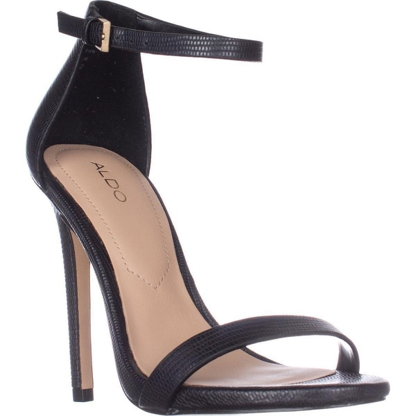 Aldo Caraa Ankle Strap Heeled Dress Sandals, Black Miscellaneous