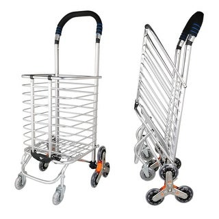 Stair Climber Foldable Shopping Cart 15.6 x 20.5 x 36.2 inches