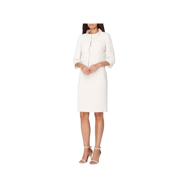 Shop Tahari Womens Dress Suit Lace Overaly Mesh Free Shipping On