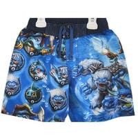 Skylanders Swap Force Little Boys Blue Sky Character Print Swim Wear Shorts 7