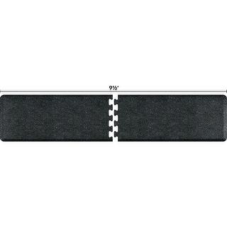 WellnessMats Anti-Fatigue Puzzle Set Office & Kitchen Mat, 9.5 Feet by 2 Feet, Granite Onyx - granite onyx