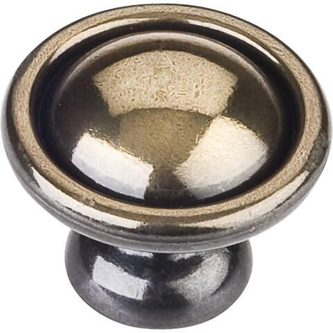 "Elements 878 Kingsport 1-3/16"" Mushroom Cabinet Knob - Antique Brass"