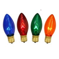 NorthLight Transparent Multi C9 Christmas Replacement Bulbs - 4 Pack