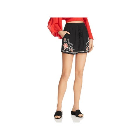 Band of Gypsies Womens Shorts Floral Embroidered