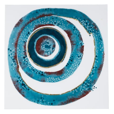 "Square Abstract Whirlpool Wall Art 23"" X 23"""