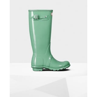 Hunter Women's Green Original Tall Gloss Rain Boots