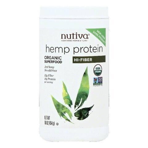 Nutiva Organic Hi-Fiber Hemp Protein, 16 OZ