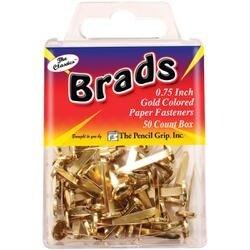 "Gold - Brads .75"" 50/Pkg"