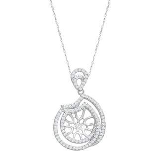 5/8 ct Diamond Museum Pendant Necklace in 14K White Gold