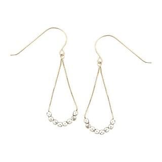 Beaded Chandelier Earrings in 14K Two-Tone Gold