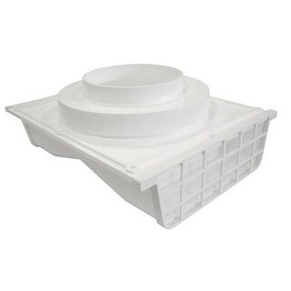 "Lambro 164W Plastic Double-Sided Under Eave Vent, 4"", White"