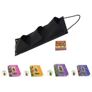 Link to Hanging Flower Garden Seed Kit with Soil Block - 4 Options Similar Items in Gardening