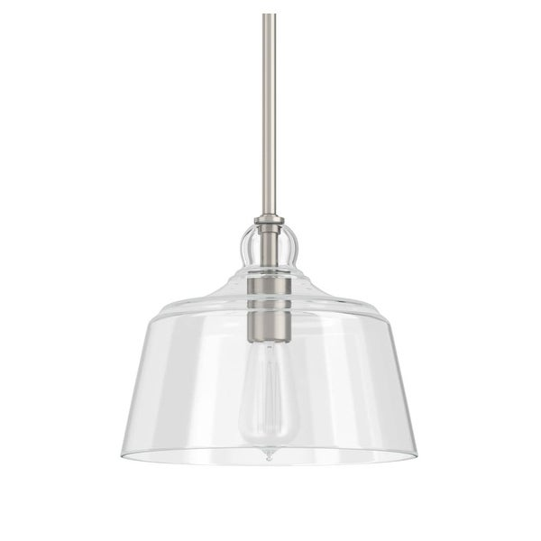 """Park Harbor PHPL5551 Eastland 9"""" Wide 1-Light Mini Pendant with Cloche Dome Shade"""
