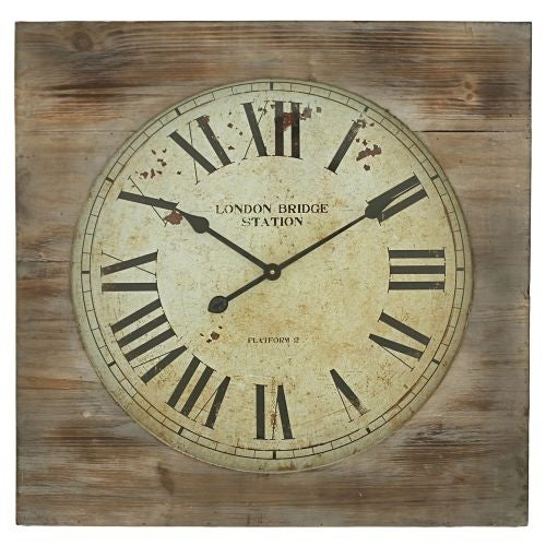 Aspire Home Accents 5095 London Bridge Station Square Wall Clock