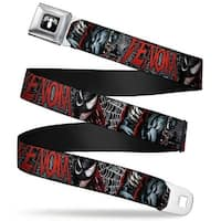 Marvel Universe Venom Spider Logo Full Color Black White Venom Action Pose Seatbelt Belt