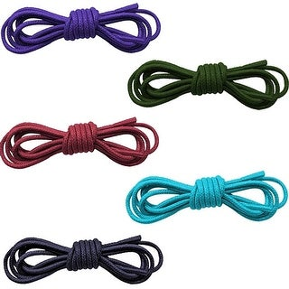 "Set Of Five Mixed Color Waxed Cotton 30"" Dress Shoelaces - Black - One size"