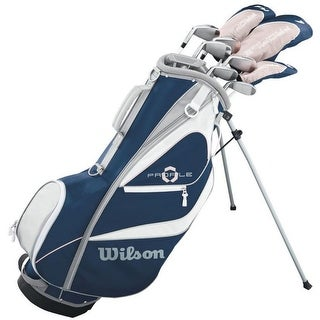 "Link to Wilson Women's Profile XD Golf Complete Set Carry Ladies (10 Clubs) (Left Hand) - Blue - 47.80"" x 13.20"" x 9.70 "" Similar Items in Golf Club Sets"