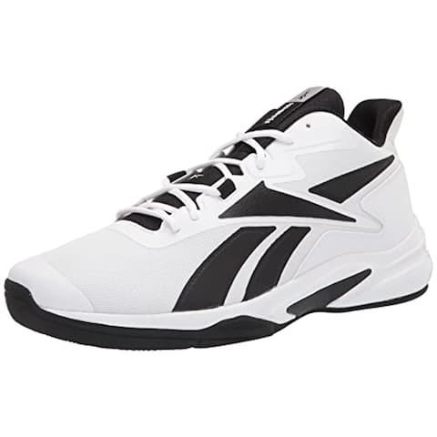 Reebok Men's More Buckets Sneaker, White/Always Blue/Silver Metallic