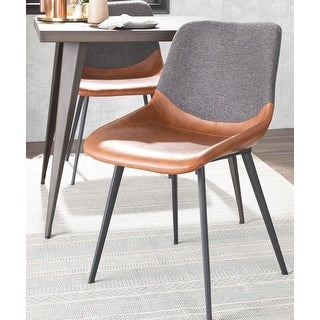Carson Carrington Viktorp Industrial Two-Tone Chair (Set of 2)