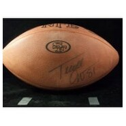 Signed Owens Terrell Official NFL Football with 49ers logo imprinted Light Signature autographed