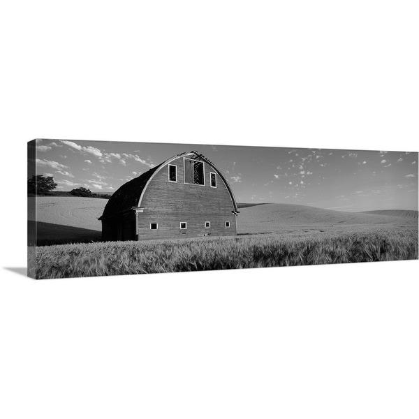 """Old barn in a wheat field, Palouse, Whitman County, Washington State"" Canvas Wall Art"