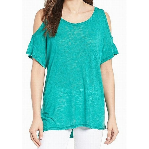 6ffad2b772419 Shop Bobeau NEW Green Lake Women s Size XL Cold Shoulder Slub Knit Top -  Free Shipping On Orders Over  45 - - 21588852