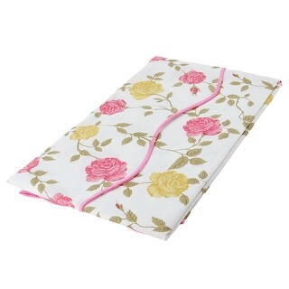 Unique Bargains Home Bi-color Rose Pattern Oil-proof Tablecloth Table Cloth Cover 60 x 60 Inch