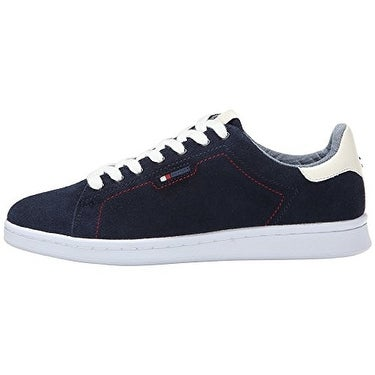 Tommy Hilfiger Womens SUZANE2 Leather Low Top Lace Up Fashion Sneakers