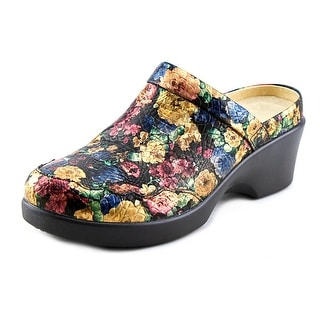 Alegria Isabelle Women Round Toe Leather Multi Color Clogs