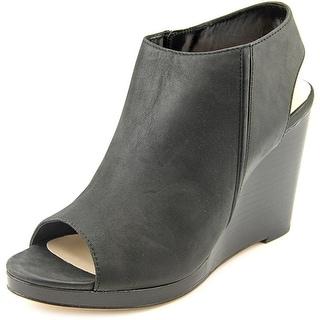 Cole Haan Ripley Wedge Women Open Toe Leather Black Wedge Heel