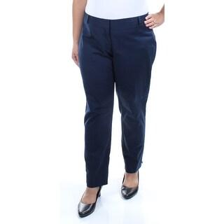 KENSIE $69 Womens New 1245 Navy Slim Leg Wear To Work Pants XL B+B