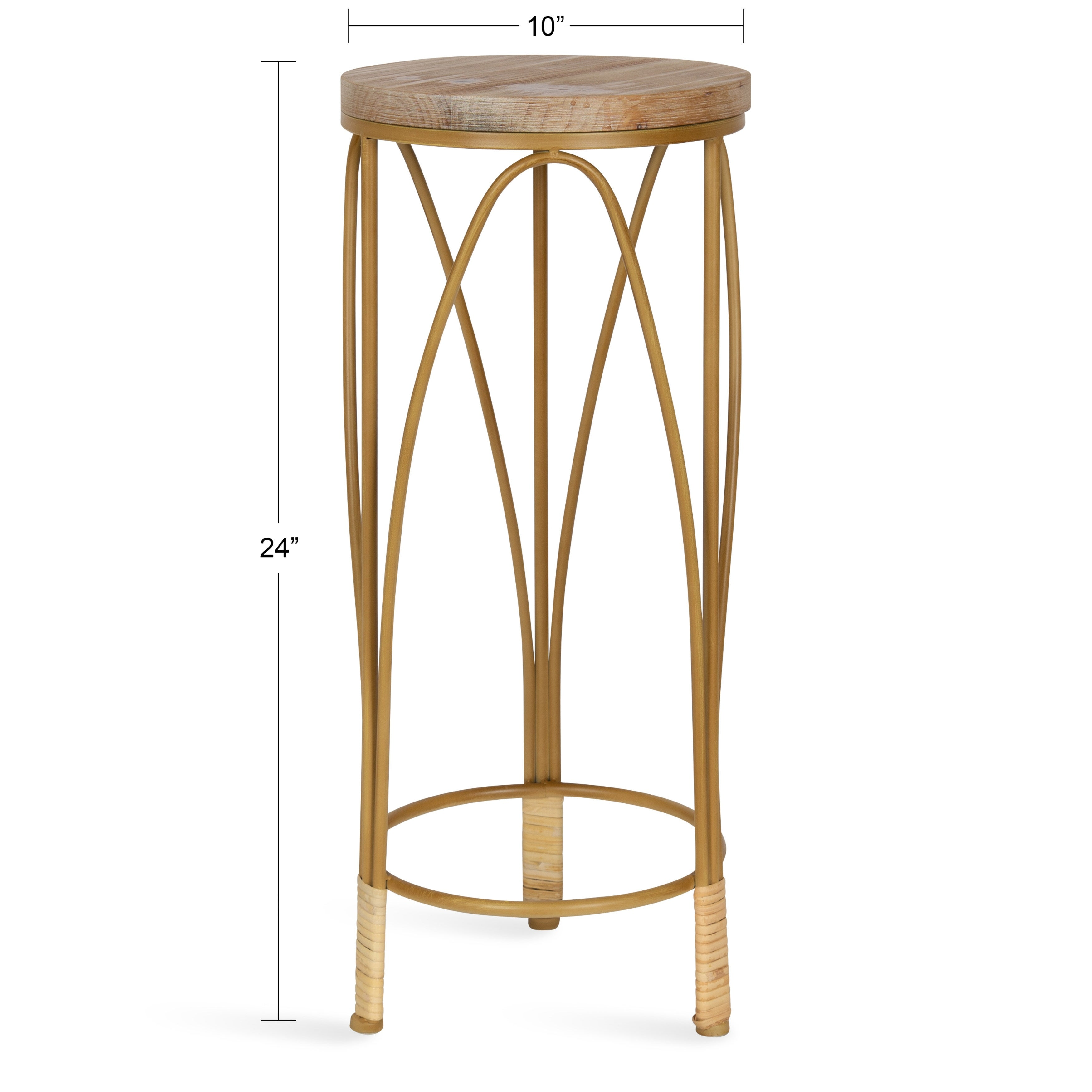 Kate And Laurel Abella Round End Table 10x10x24 Overstock 32086584