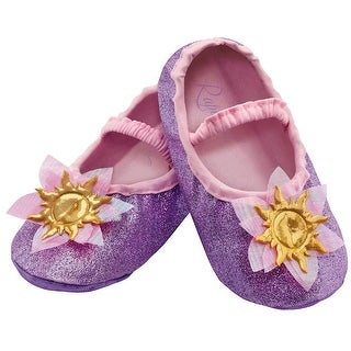 Toddler Rapunzel Halloween Costume Slippers - up to size 6