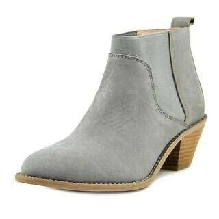 Kelsi Dagger Kadine Women Round Toe Leather Gray Ankle Boot