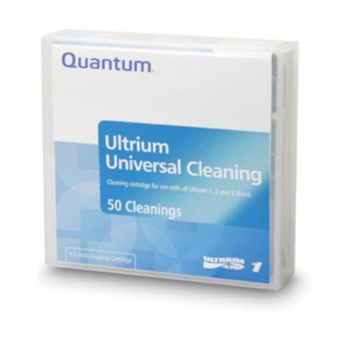 Quantum LTO, Ultrium-1, 2, 3, 4, 5, 6, 7, 8 Clng Ctdg, 50 pass, Universal