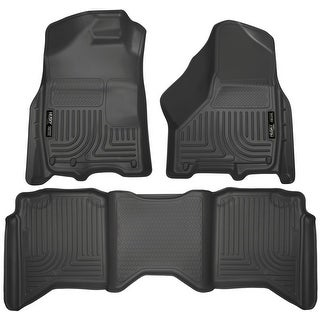 Husky Weatherbeater 2011-2016 Dodge Ram 1500/2500/3500 CrewCab Black Front & Rear Floor Mats/Liners