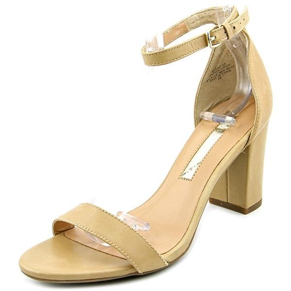 Audrey Brooke Nadine Women Open Toe Leather Tan Sandals