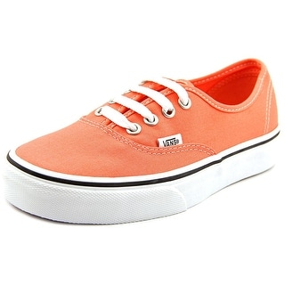 Vans Authentic Youth Round Toe Canvas Pink Skate Shoe