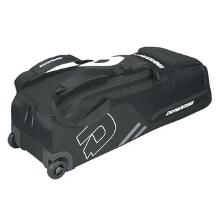DeMarini Momentum Baseball Wheeled Bag-Black - WTD9406BL