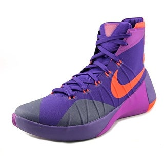 Nike Hyperdunk 2015 Men Round Toe Synthetic Purple Basketball Shoe